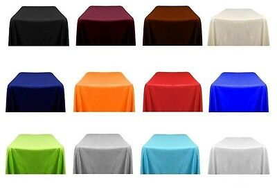 "Tablecloths 60""x60"" Square Seamless Polyester Restaurant Catering Wedding Party"