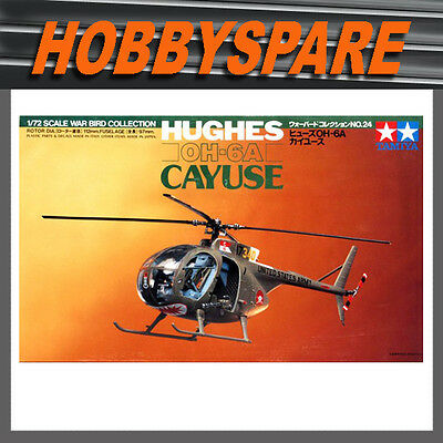 Tamiya 1/72 60724 Hughes Oh-6A Cayuse War Bird Collection Helicopter Model Kit
