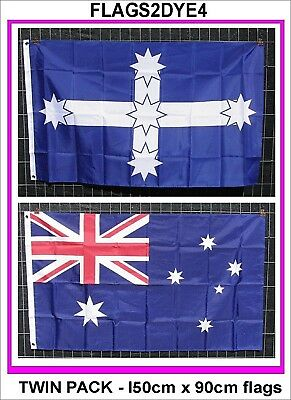 Australian flag Eureka flag twin pack Includes Australia post tracking