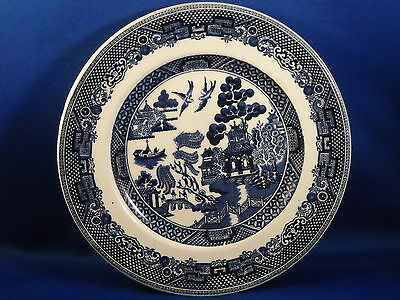 [2] VINTAGE JOHNSON BROS. ENGLAND   WILLOW BLUE  BREAD PLATES  6 1/4""