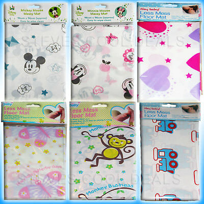 Baby Feeding No Splash Floor Sheet Mat Less Mess Craft High Chair Sheeting