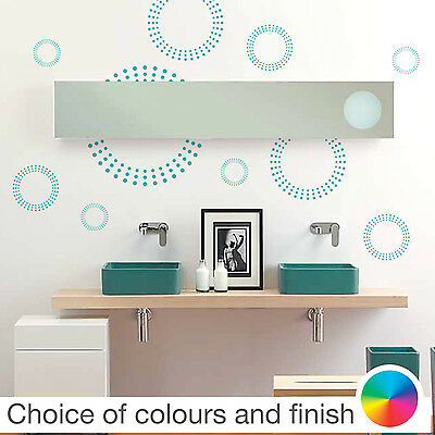 Retro Circle of Dots Pattern Wall Sticker Home Decor Bedroom Living Room Kitchen