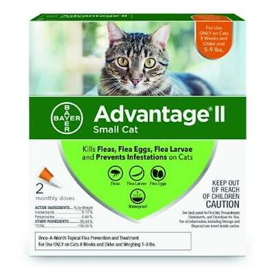 Advantage II for Cats 5-9 lbs. 2 pack (2 Doses) Genuine EPA Approved for USA