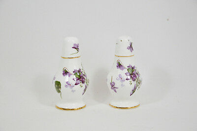 Hammersley Victorian Violets Salt and Pepper Shakers