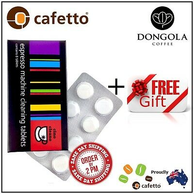 CINO CLEANO BEC250 Espresso Coffee Machine Cleaning Tablets Cleaner + FREE GIFT