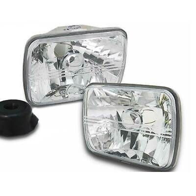 Mitsubishi Triton MK 7x5 Rectangle Pair of Crystal Clear Headlights New