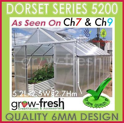 6mm ALUMINIUM POLYCARBONATE Garden GREENHOUSE Shade GREEN HOT HOUSE Shed 5.2S