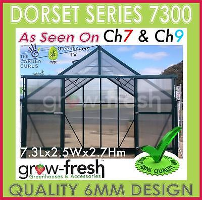 6mm ALUMINIUM POLYCARBONATE Garden GREENHOUSE Shade GREEN HOT HOUSE Shed 7.3G