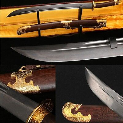 29' Rosewood Folded Steel Blade Hand Made Chinese Flower Sword Dao