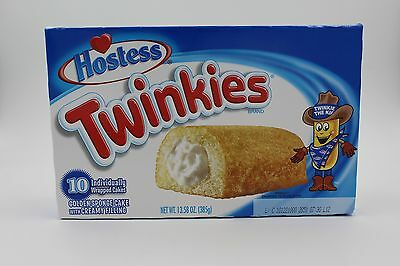 1 box of 10 Hostess Twinkies direct from the USA Free UK Delivery