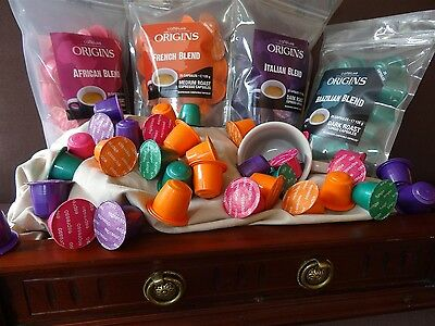 120 Nespresso Capsules Compatible Pods. 4 Caffeluxe Flavours.