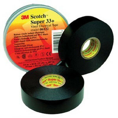 "Scotch Vinyl PLastic Electrical Tape Super 33 Plus, 3/4"" x 52' 3M-6133 10 rolls"
