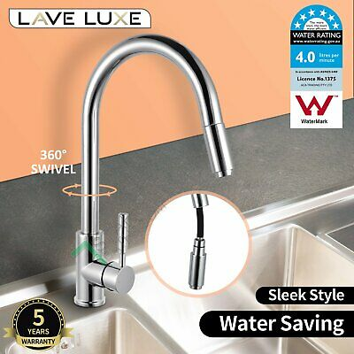 Lead Free Chrome Kitchen Sink Mixer Tap Laundry Basin Faucet Swivel Spout WELS
