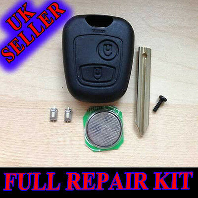 Citroen Xsara Picasso 2 Button Key Fob Remote Full Repair Kit