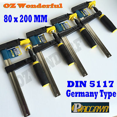 4 pcs Paccaya 80 x 200mm F Clamps Germany Type F Clamps High Quality