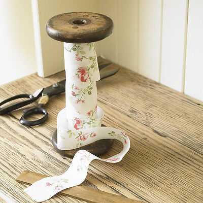 Charlotte Rose Vintage Style 37mm Flat Floral Bias Binding By The Metre