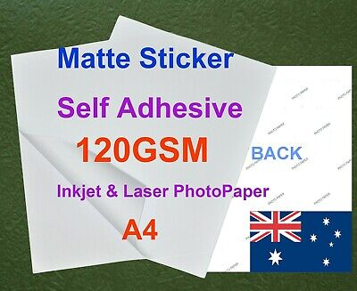 35XA4 120GSM Matte Inkjet & Laser Photo Paper Sticker Adhesive ( Back Marked )