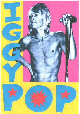 IGGY POP  POSTER. The Stooges.