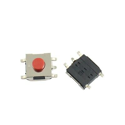 10Pcs Momentary Tactile Tact Red Push Button Switch 5 Pin SMD SMT 6x6x3.7mm