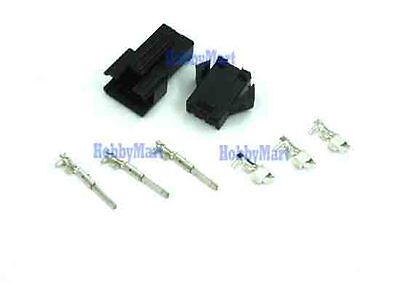 10 sets,JST 2.5 SM 3-Pin Battery Connector Plug Male , Femle , Crimps