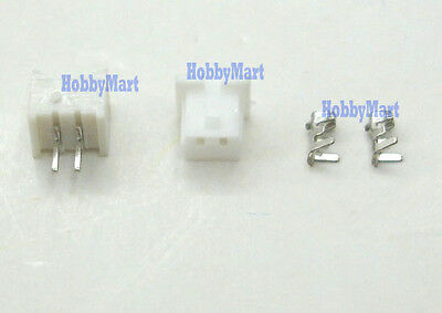 Micro JST 1.25mm T-1 2-Pin Connector Plug Female ,Male x 50 Sets