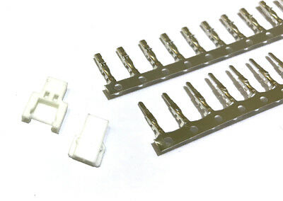 Losi Micro 2.0mm 2-Pin Connector plug ( Male, Female, Crimps) x 10 Sets
