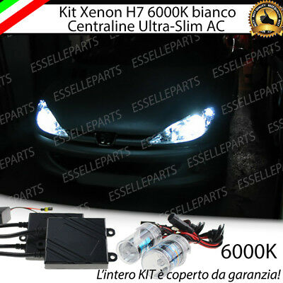 Kit Xenon Xeno H7 6000 K Ac 35W Specifico Per Peugeot 206 No Error Con Garanzia