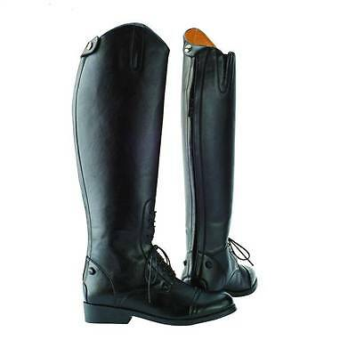 Saxon Equileather Tall Boot LACED/FIELD Show/ Dressage Horse Riding Boots Zip