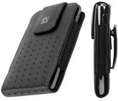 Leather Vertical Case Pouch Black Holster Belt Clip for Apple iPhone 4/4S
