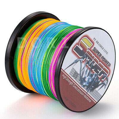 1500M 2000M Multi-Color 10LB-100LB Super Strong Dyneema Sea Fishing Line Braid