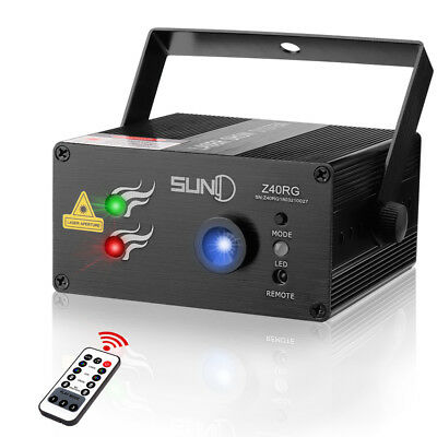 SUNY 3 Lens 40 Patterns RG  Stage Laser LED Party Dance DJ Show Light  Home Xmas