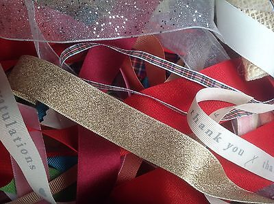 BAG OF RIBBON REMNANTS - Approx 50g - STOCK CLEARANCE!!