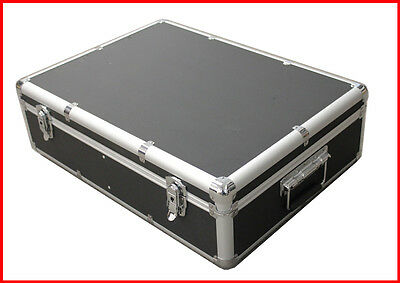 1000 CD DVD Black Aluminum Media Storage Case Mess-Free Holder Box with Sleeves