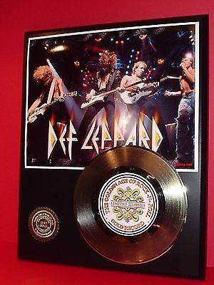 Def Leppard Gold 45 Record Limited Edition Display