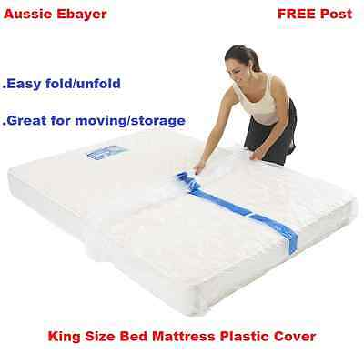 King Size Bed Mattress Protect Plastic Cover Moving & Storage Bag