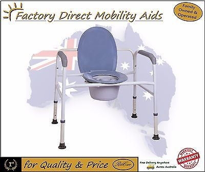 Extra Wide Bariatric Commode with Lid / Bucket / Splash guard Toilet seat raiser