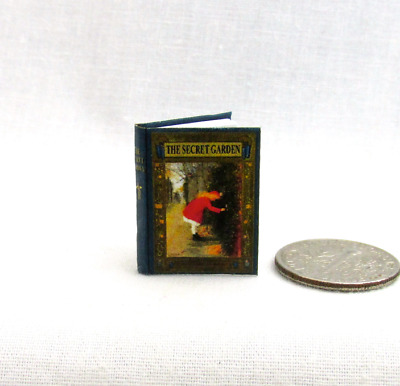 THE SECRET GARDEN Color Illustrated Miniature Dollhouse 1:12 Scale Readable Book