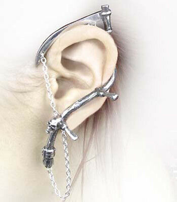 THE HARVESTER- ALCHEMY GOTHIC earring Ohrschmuck Ohrstecker reaper fantasy goth