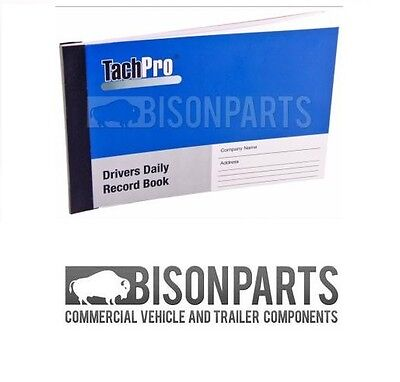 *Tachpro Tachograph Drivers Daily Hour Record Book (26 duplicate pages) - 100206