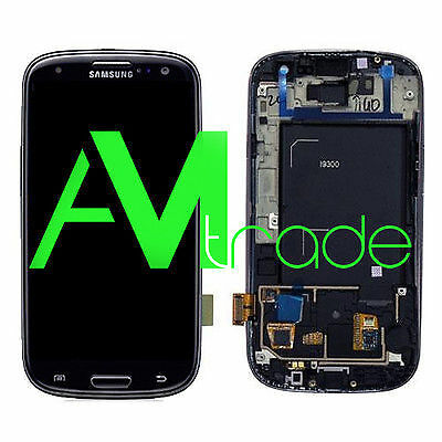 LCD + DISPLAY +FRAME COMPLETO TOUCH SAMSUNG GALAXY S3 i9300 BLACK NERO ORIGINALE