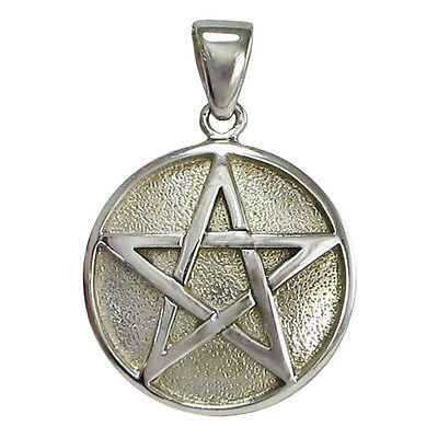 White Bronze Spell Locket Pentacle Pendant Pentagram Jewelry Wicca Pagan Wicca