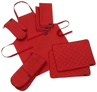 PlainAndSimple Chilli PepperRed Kitchen Textile Range-Sold Separately Or As Sets