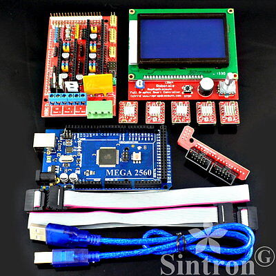RAMPS 1.4 Kit + LCD 12864 Display + Mega 2560 R3 + 5pcs A4988 For Arduino RepRap