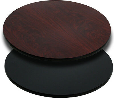 Flash Furniture 36'' Round Table Top with Black or Mahogany Reversible...