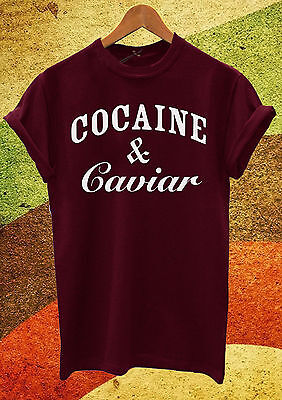 TACOS AND TEQUILA T SHIRT UNISEX MENS WOMENS FUNNY HIPSTER COCAINE CAVIAR