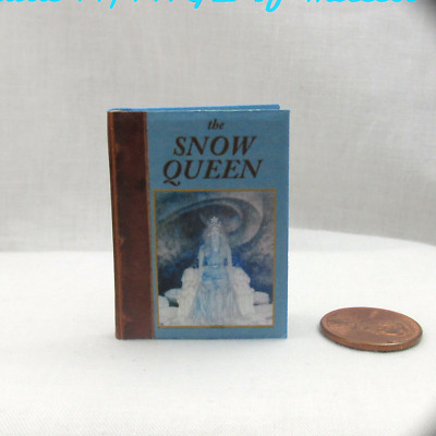 THE SNOW QUEEN 1:6 Scale Readable Color Illustrated Book Miniature Book