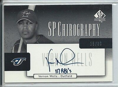 2004 Vernon Wells SP Authentic Chirography Silver Auto #VW 117 RBI's RARE /30