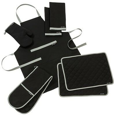 Plain And Simple Phantom Black Kitchen Textile Range-Sold Separately Or As Sets