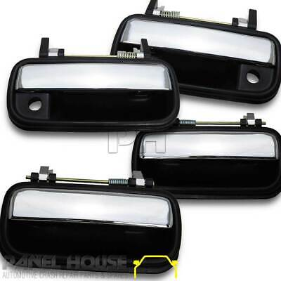 NEW Toyota Hilux 97-01 Ute Chrome Black Outer Door Handle SET x 4 Front & Rear