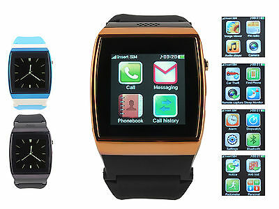 Bluetooth Sync IPS HD Wrist Smart Watch GSM Mobile Phone SIM Slot FM for Android